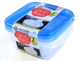 Microwavable container with air valve S, 2 pcs, 4.9 x 4.7 x 2 in ,12pks