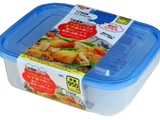 Microwavable container with air valve L, 7.5 x 5.6 x 2.3 in ,12pks