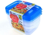 Microwavable container with air valve S, 3 pcs, 5.3 x 3.5 x 1.8 in ,12pks