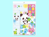 Letter set No8 panda&rabbit ,10pks