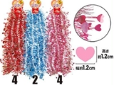 Party garland mini hearts 16.4ft ,10pks