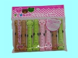 Bag clip, animal, 8 pcs ,12pks