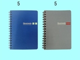A5 hard cover notebook, 80 sheets, 2 assort, 5.8 x 7.1 in ,10pks
