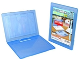 A4 document case with clip, blue, 9.2 x 12.5 in ,10pks