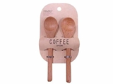 Beech wood coffee spoon, 2 pc ,12pks