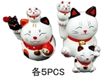 Lucky cat, 2 assort ,10pks