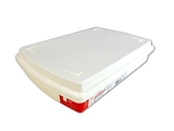 A4 box with lid, white, 9.8 x 14 x 2.8 in ,12pks