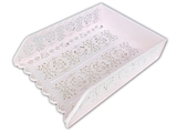 A4 plastic tray, rose, pink, 9.8 x 12.8 x 2.8 in ,10pks