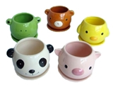 Flower pot, animal, 5 assort ,10pks