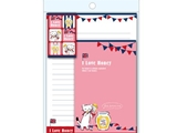 Letter set No23 Love Honey, 5.9 × 7.5 × 0.2 in, 10 pkg