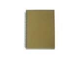 A5 Double spiral notebook, craft cover, 80 sheets, 6.8 x 8.9 in, 10 pks
