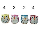 Owl shaped saving box, 3 × 3.1 × 3.1 in, 12pks