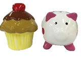 Coin bank, cupcake, pig assort ,12pks