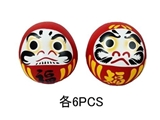 Daruma ornament, 3.9 x 4.1 in, 12pks
