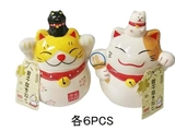 Lucky cat-pair, 3.54 × 2.95 × 4.13 in, 12pks