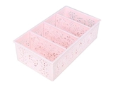 Rose basket with partitions pink, 4.4 × 7.9 × 2.4 in, 10pks