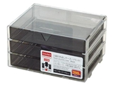 3 drawers case black, 5.1 × 6.7 × 3.7 in, 8pks