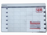 Schedule board, horizontal, 11.02 x 17 in ,20pks