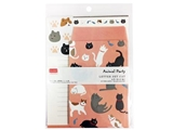 Letter set, cat, 7.5 x 5.6 in ,12pks