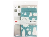 Letter set, polor bear, 7.5 x 5.6 in ,12pks