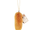 Fluffy tail accessory  -- long yellow brown-