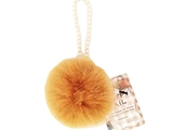 Fluffy tail accessory- circle yellow brown-,12pks