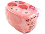Japanese pattern oval lunch box, pink, 5.4 x 3.7 x 3.1 in, 5pks