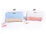 Two-tone flat pouch