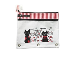 Pencil case for 3 ring binder, 10.6 x 9.1 in ,8pks