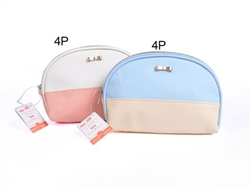 Two-tone shell pouch
