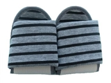Folding slippers knitted borders