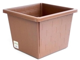 Flowerpot with brick design