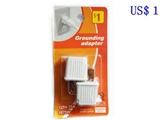 Grounding adapter - 125V 15A 1875W