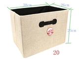 Storage box faux linen