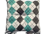 Seat cushion argyle print