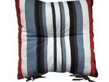 Seat cushion stripe print