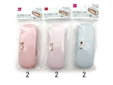 Glasses case, pastel ribbon, 3 assort, 6.3 x 1.2 x 2.4 in, 6pks