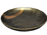 Plate, bronze accent, d9 x 1.5 in, 10pks
