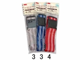 Suitcase belt, stripe, 3 assort, 2 x 67 in, 10pks