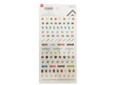 Schedule stickers, job, 3.8 x 6.7 in, 12pks