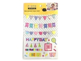 Photodecoration stickers, party, 5.9 x 9.5 in, 12pks