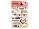 Photodecoration stickers, love, 5.9 x 9.5 in, 12pks
