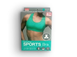 Sports Seemless Bra Green S