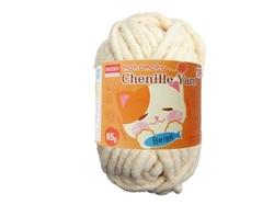 Chenille yarn, beige, 10pks