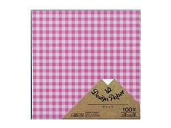 Origami paper, gingham, 100 sheets, 5.9 x 5.9 in, 10pks