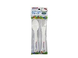 Hello kitty spoon and fork set